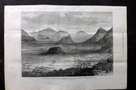 ILN 1880 Antique Print. Secokuni's Town, in the Transvaal, South Africa